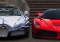 Bugatti Veyron L'Or Blanc e LaFerrari, tamponamento in parcheggio (VIDEO)