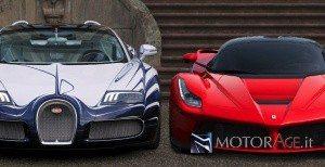 Bugatti e LaFerrari