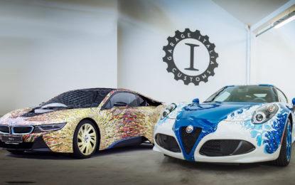 Alfa Romeo 4C Hokusai e BMW i8: opere d'arte by GIC
