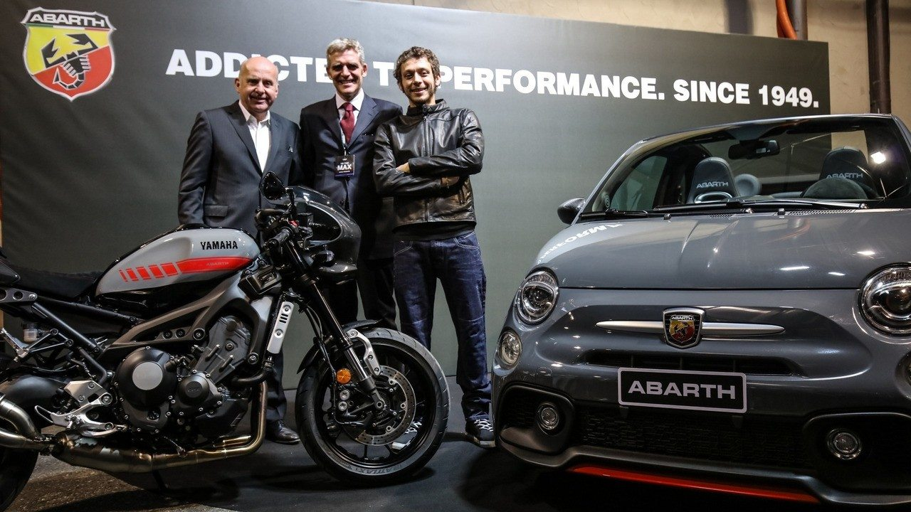 abarth tributo 595 xsr e yamaha xsr 900 insieme all 39 eicma motorage new generation. Black Bedroom Furniture Sets. Home Design Ideas
