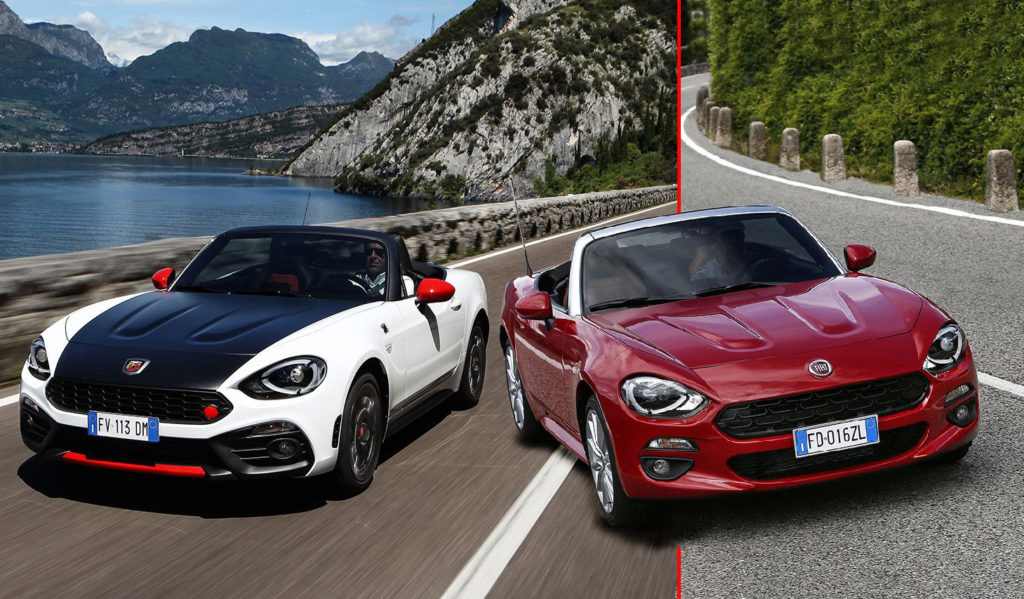 fiat 124 spider e abarth 124 spider anime sportive a. Black Bedroom Furniture Sets. Home Design Ideas