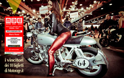 Motor Bike Expo 2017: i vincitori dei 10 biglietti di Motorage.it