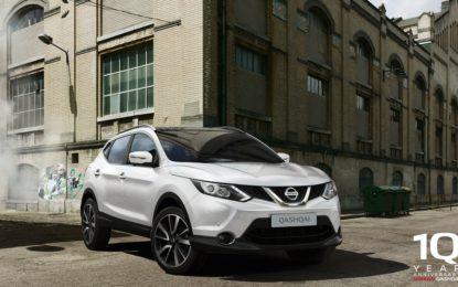 Nissan Qashqai: 10 compleanni e 10 anni di garanzia