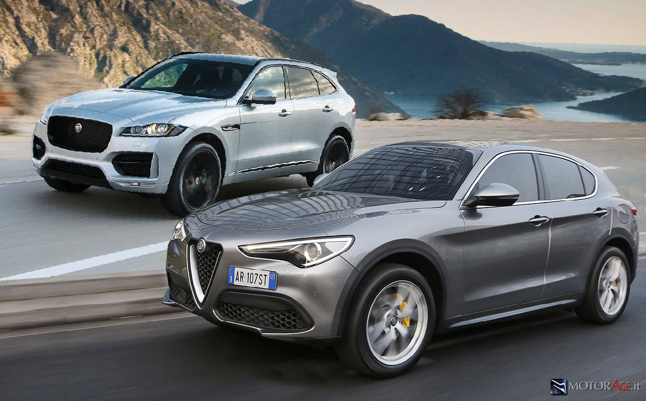 confronto alfa romeo stelvio 2 2 d jaguar f pace 2 0 d 180 cv motorage new generation. Black Bedroom Furniture Sets. Home Design Ideas