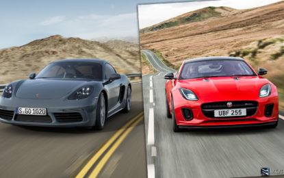Confronto: Jaguar F-Type 2.0 Coupé vs Porsche 718 Cayman