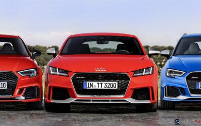 Audi RS: il terzetto delle alte performance
