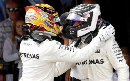 Parata Mercedes a Silverstone, le gomme tradiscono le Ferrari