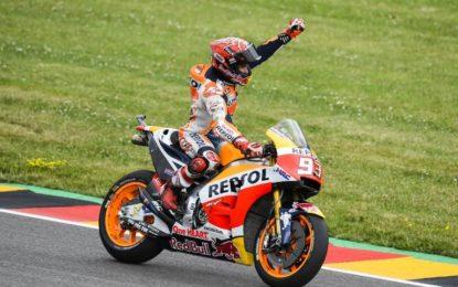 """Marquez """"Kaiser"""" al Sachsenring"""
