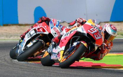 Rossi stoico 5° posto. Marquez allungo Mondiale