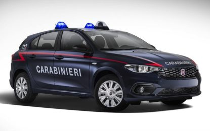 La Fiat Tipo entra nel parco auto dei Carabinieri