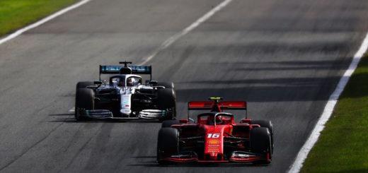 Leclerc davanti a Bottas, GP d'Italia