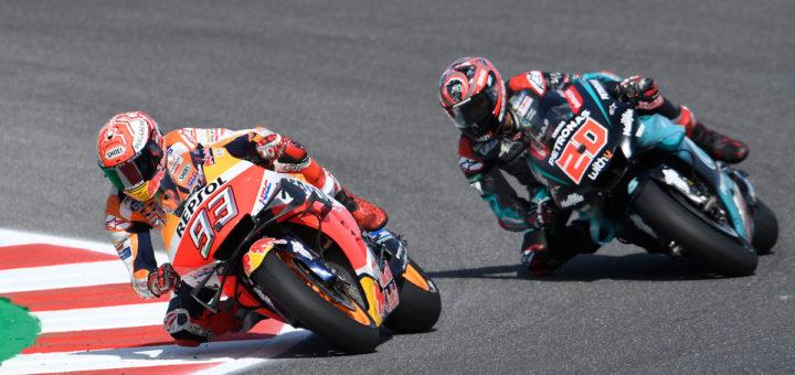 Battaglia Marquez Quartararo, GP Misano 2019