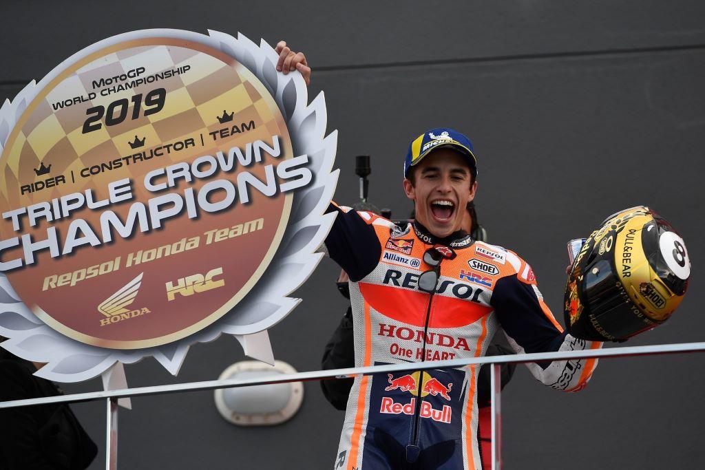 Honda e Marquez Campioni del Mondo MotoGP 2019