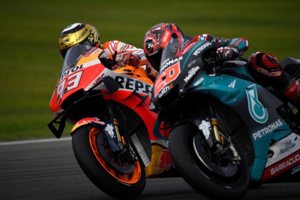 Quartarato e Marquez, MotoGP Valencia 2019