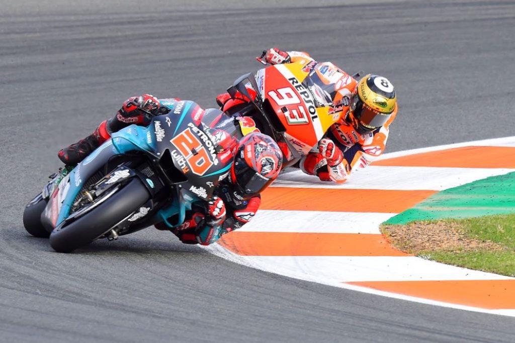 Fabio Quartararo e Marc Marquez, testa a testa MotoGP Valencia 2019