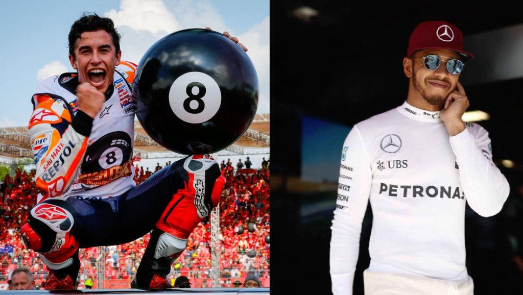 Marquez e Hamilton, dominatori dei motori