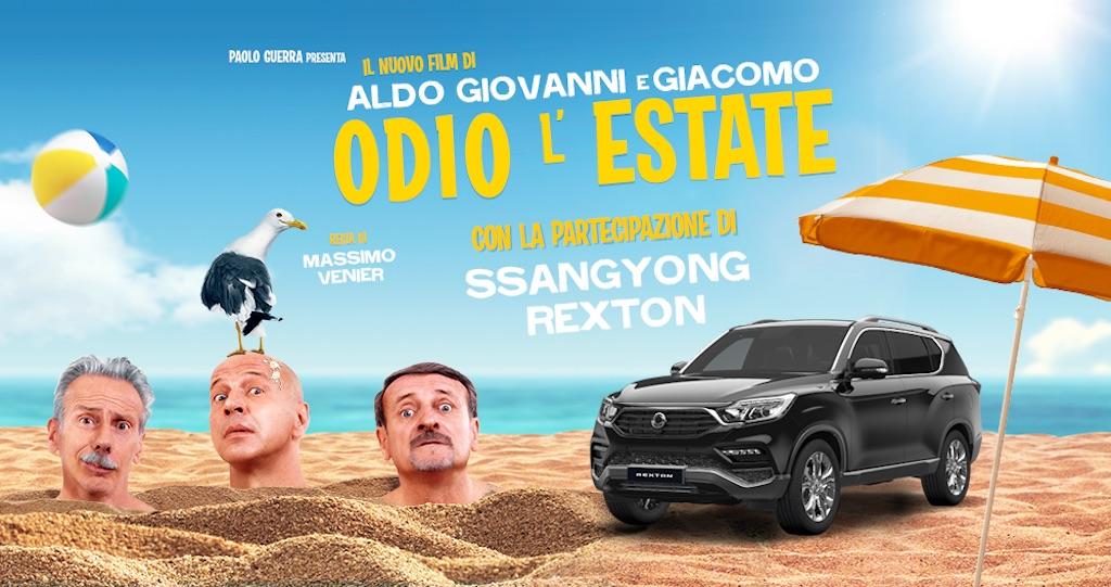 Odio l'estate, film con il trio di comici Aldo, Giovanni e Giacomo e con SsangYong Rexton