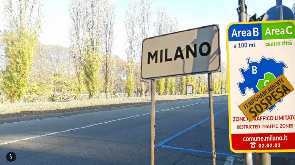 Milano: area B e C sospese. I parcheggi sono gratis