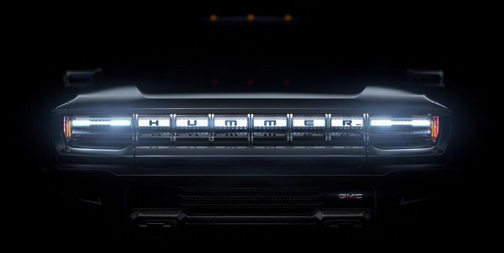 Griglia frontale di GMC Hummer EV anticipa la presentazione del nuovo modello elettrico