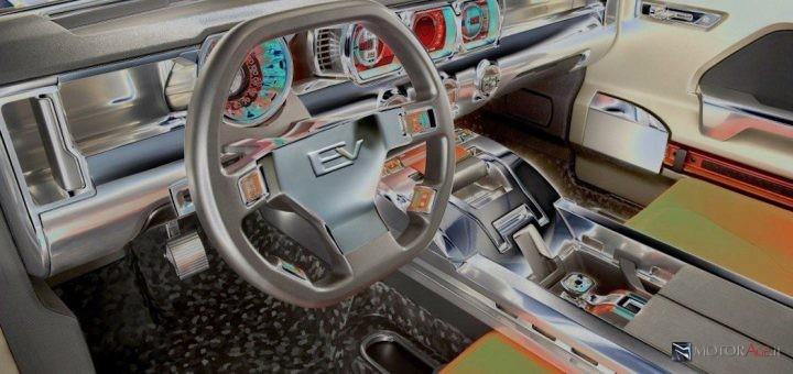 Rendering by MotorAge degli interni del progetto Hummer