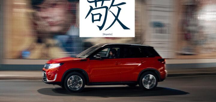 """Suzuki concessionarie e venditori ripartono dopo lockdown per Covid 19 seguendo la filosofia giapponese Kanji """"Kei"""", che significa Rispetto con il cuore"""