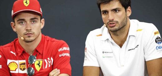 Charles Leclerc e Carlos Sainz, intervista in occasione dell'accordo del pilota spagnolo Sainz Jr. con la Scuderia Ferrari Mission Winnow - il contratto partira con la stagione di Formula 1 2021