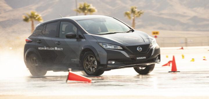 Test per sistema di trazione integrale e-4ORCE di Nissan - CES Las Vegas 2020