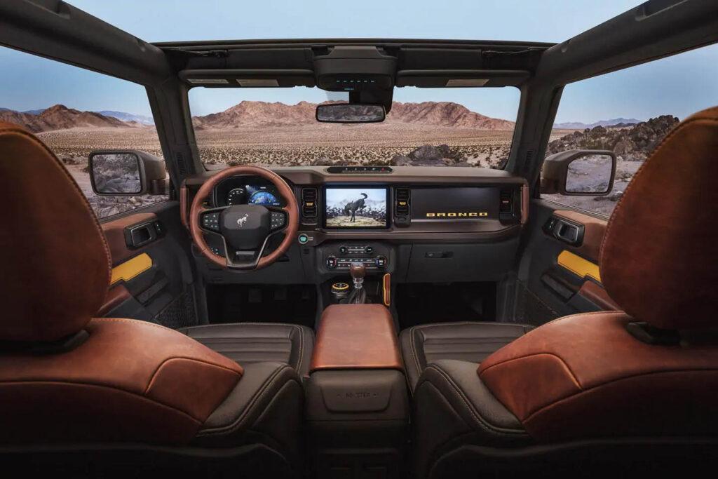 Interni nuovo Ford Bronco