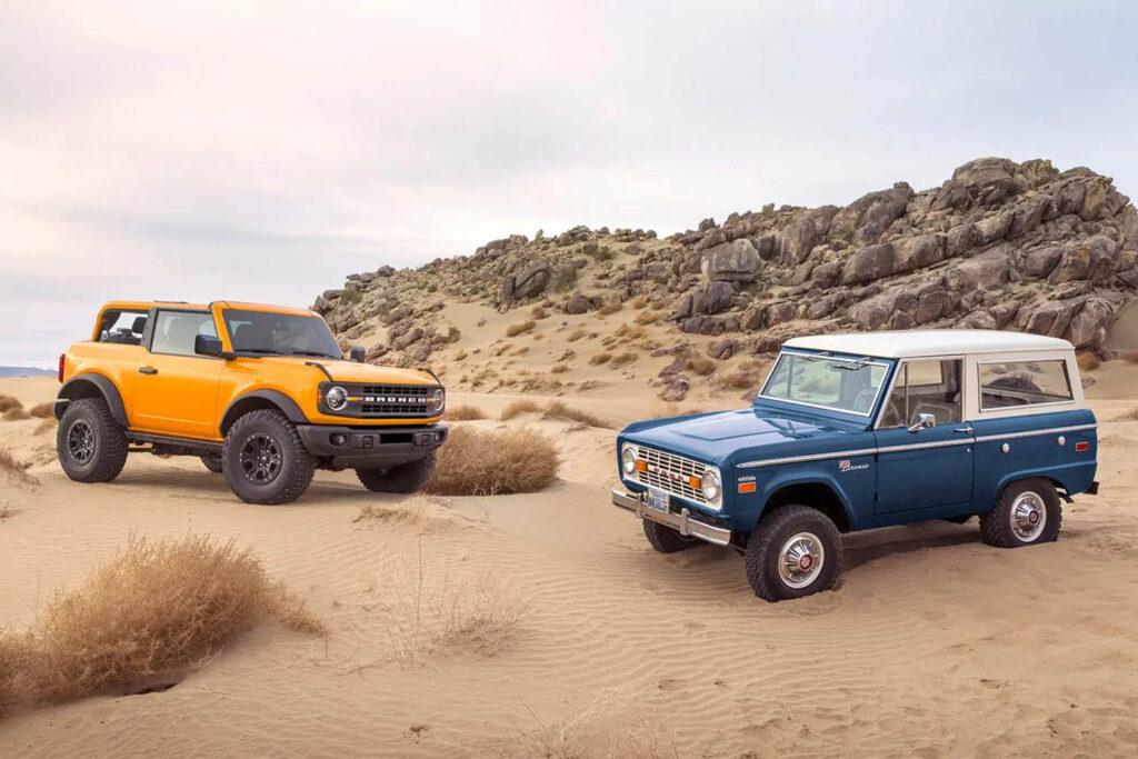 Predecessore e nuovo modello Ford Bronco
