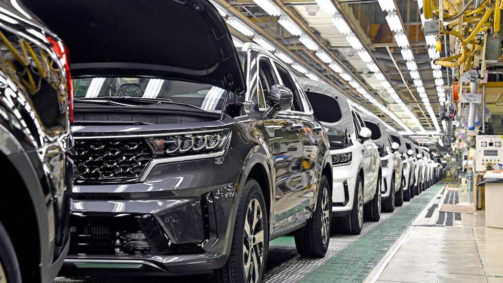 Produzione Kia Sorento di quarta generazione - stabilimento coreano di Hwasung