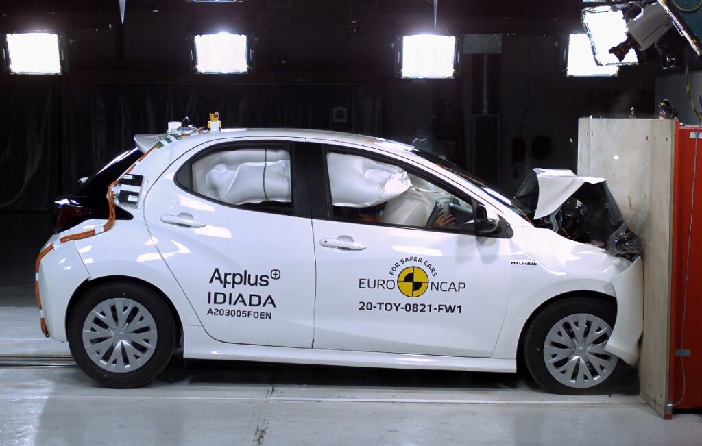 ta Yaris nel crash test EuroNCAP protocolli 2020