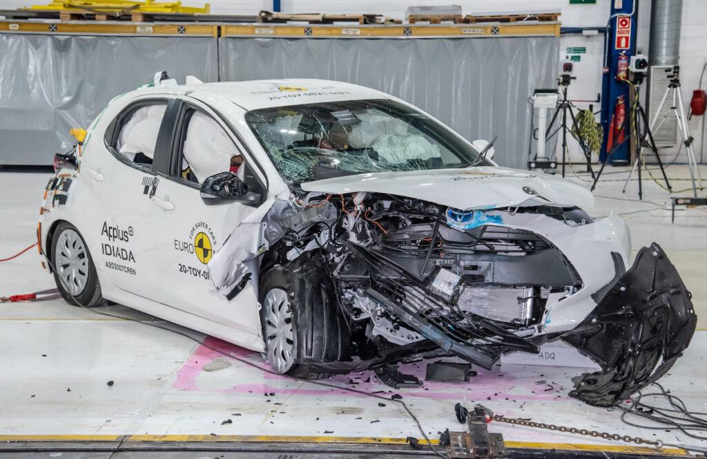 Toyota Yaris crash test EuroNCAP su protocolli sicurezza 2020