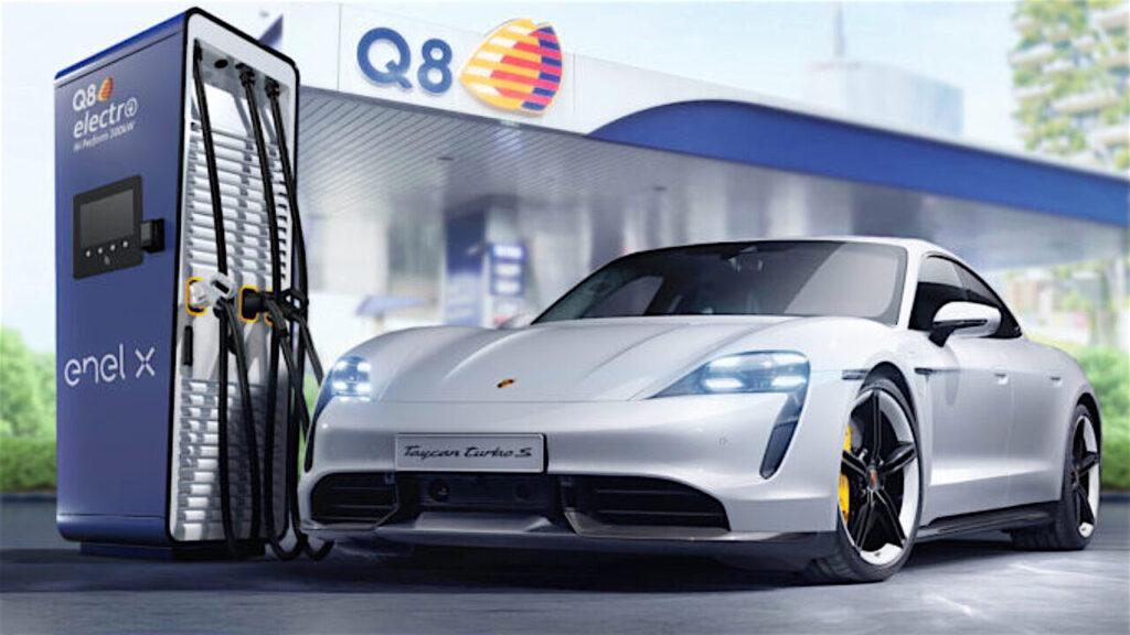 Porsche Italia, Q8 e Enel X: obiettivo, stazioni di ricarica veloci