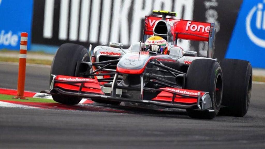 La McLaren MP4-25A con cui Lewis Hamilton vinse in Turchia