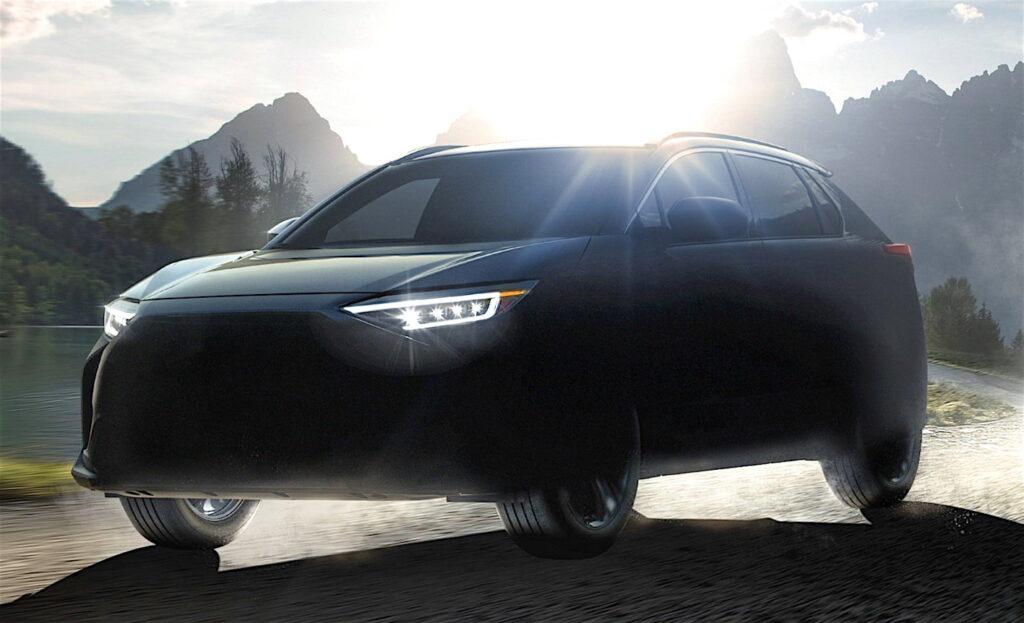 Il SUV Solterra è stato sviluppato congiuntamente da Subaru e Toyota