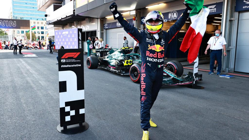 Al GP di Azerbaigian vince Sergio Perez su Red Bull conducendo una gara fantastica.