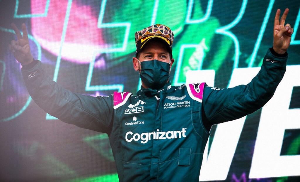 Al GP di Azerbaigian il secondo posto è di Sebastian Vettel su Aston Martin