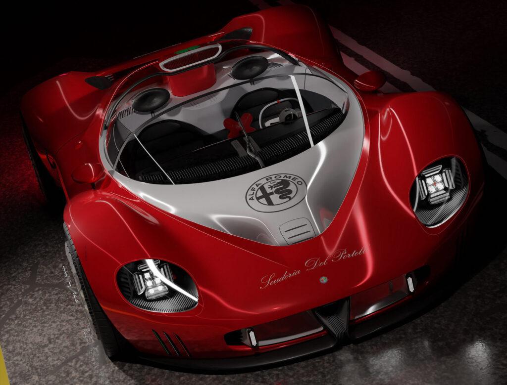 L'Alfa Romeo Periscopica progettata da Narayan probabilmente non sarà mai prodotta.
