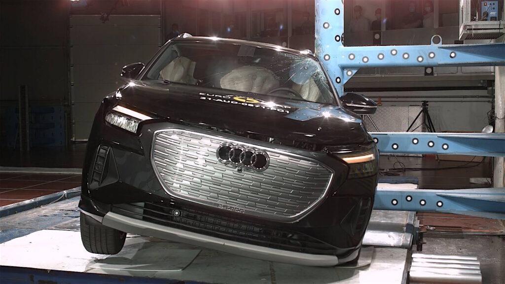 Audi Q4 e-tron nei test Euro NCAP del 2021 ha ottenuto il massimo punteggio