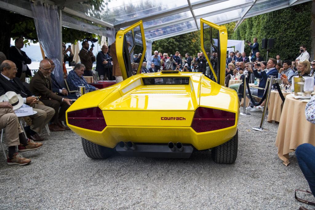 A Villa d'Este la ricostruzione del primo prototipo della Lamborghini Countach portato a termine dal Polo Storico Lamborghini nei mesi scorsi