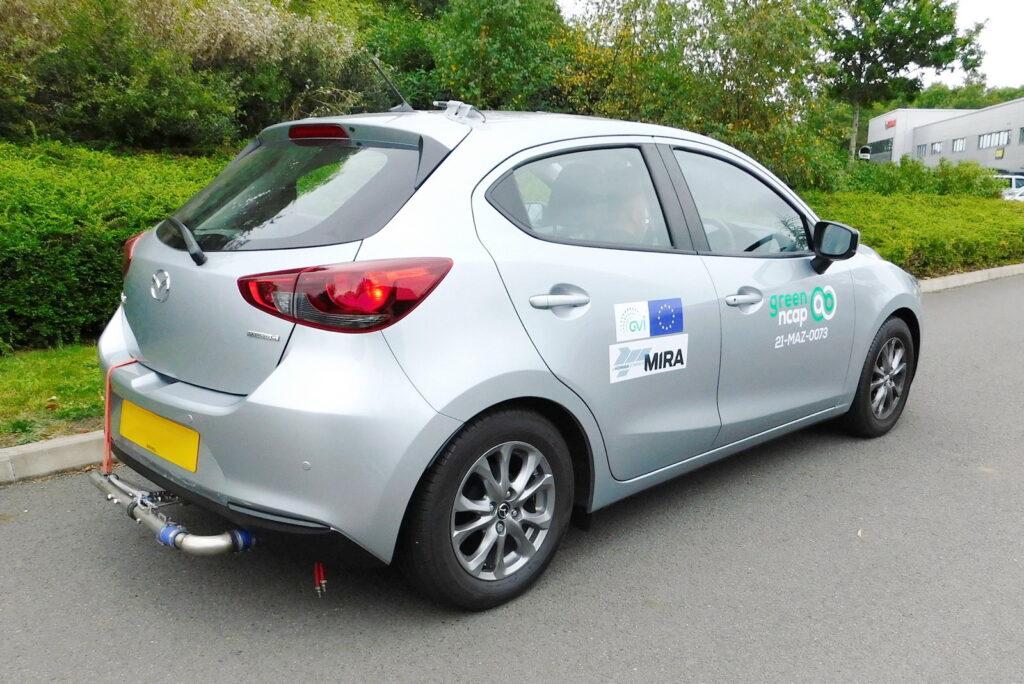 Mazda 2, nei test Green NCAP ha dimostrato prestazioni ottime guadagnando 3,5 stelle