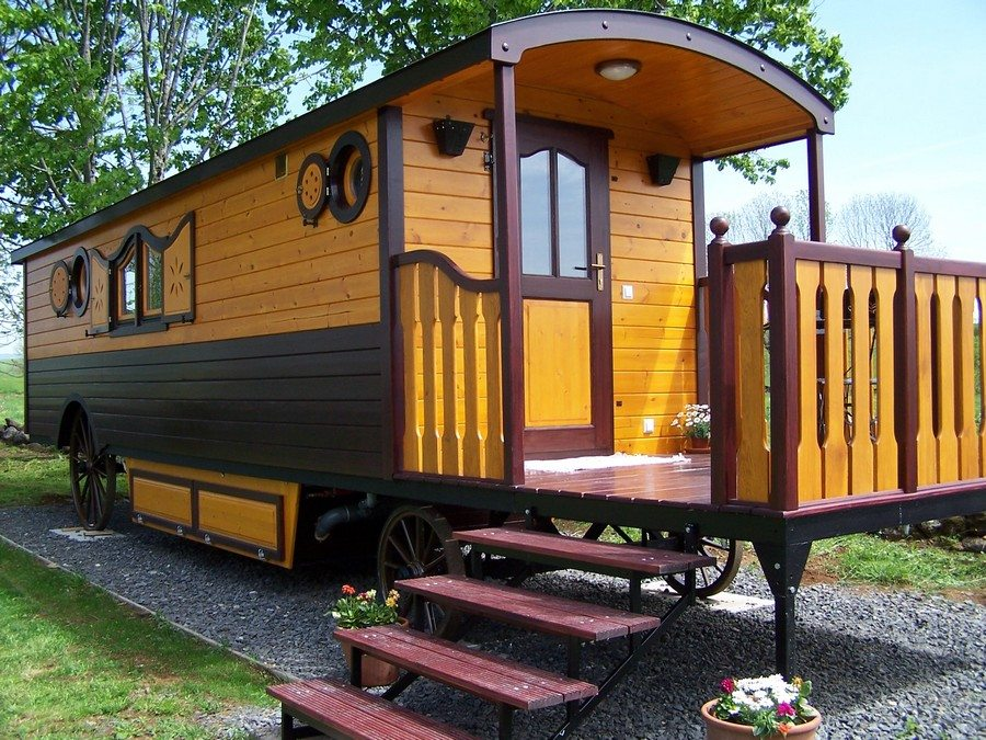 Sicuri Casa Mobile Roulotte on Box Bungalow